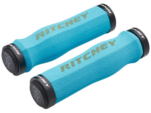 Ritchey WCS Ergo True Grip Chwyt do kierownicy Lock-On niebieski/turkusowy
